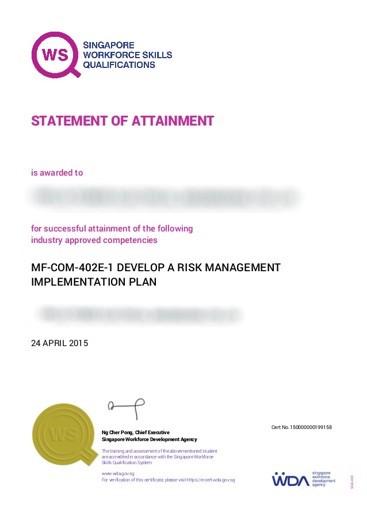 BizSafe 2 Certificate