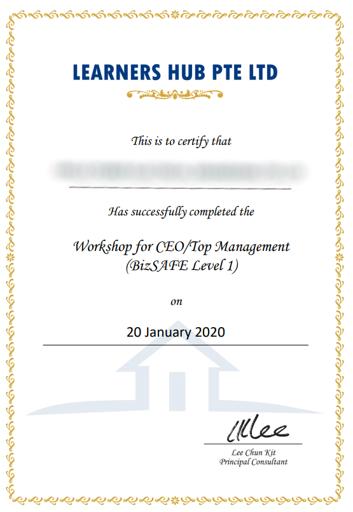 BizSafe Certificate